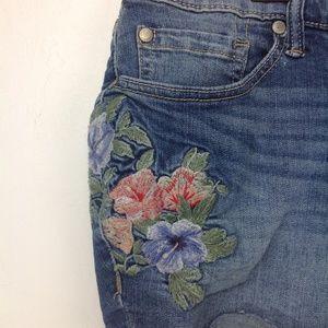 torrid Shorts - Torrid distressed denim embroidered shorts